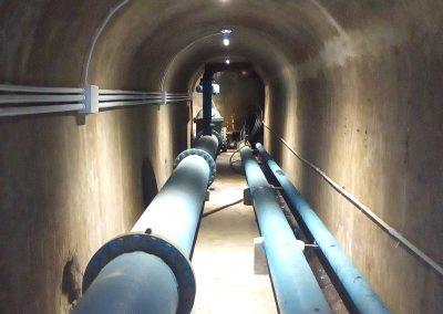 Progettazione dell'impianto di illuminazione per tunnel tecnologici a servizio del serbatoio di acqua potabile di una città